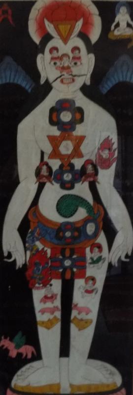 les chakras peinture indienne