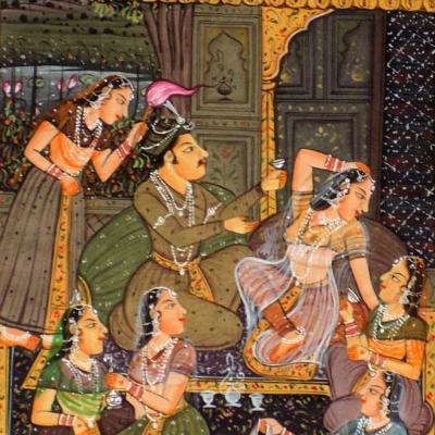 miniature indienne, les fastes de l'amour.