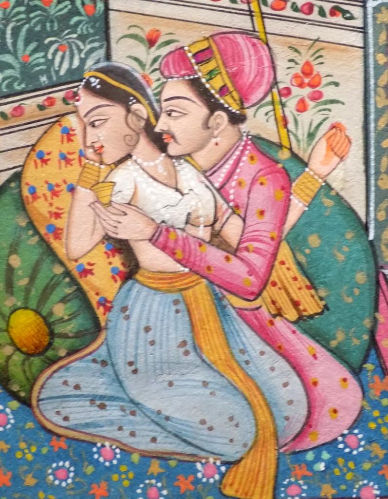 miniature indienne, l'ivresse du plaisir